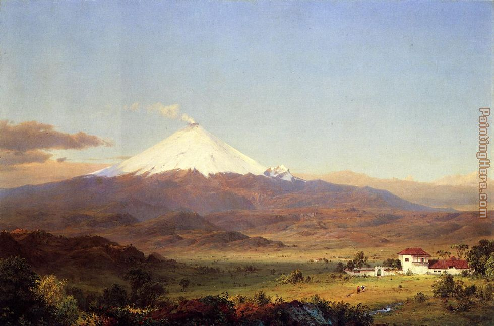 Cotopaxi painting - Frederic Edwin Church Cotopaxi art painting