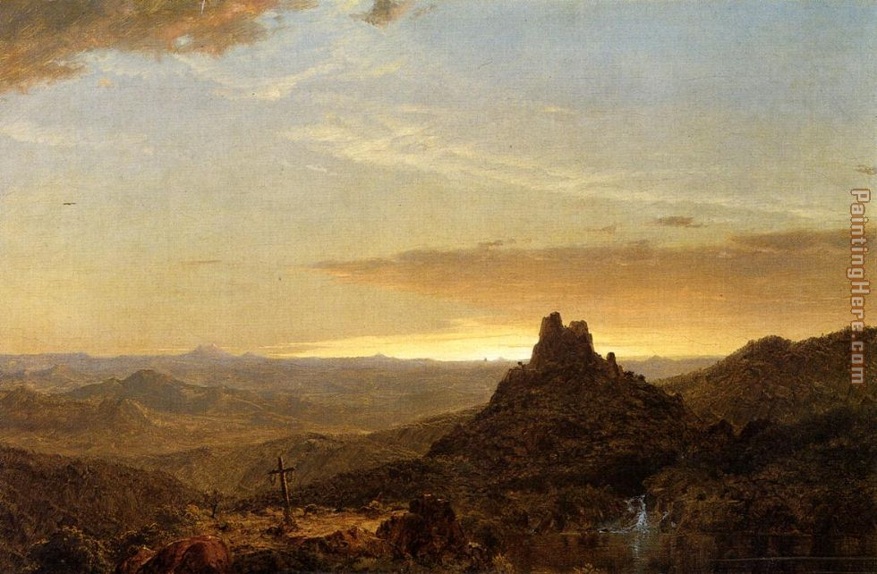 Cross in the Wilderness painting - Frederic Edwin Church Cross in the Wilderness art painting