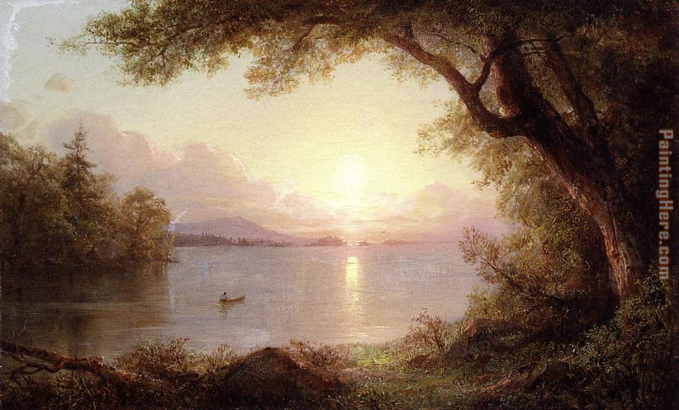 Landscape in the Adirondacks painting - Frederic Edwin Church Landscape in the Adirondacks art painting