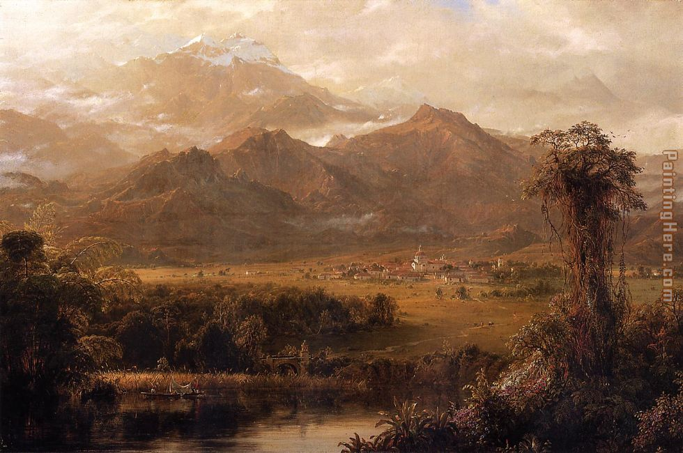 Mountains of Ecuador painting - Frederic Edwin Church Mountains of Ecuador art painting