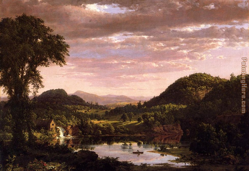 New England Landscape painting - Frederic Edwin Church New England Landscape art painting