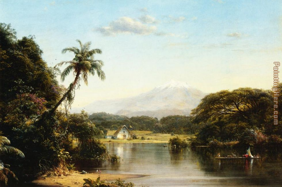 Scene on the Magdalena painting - Frederic Edwin Church Scene on the Magdalena art painting