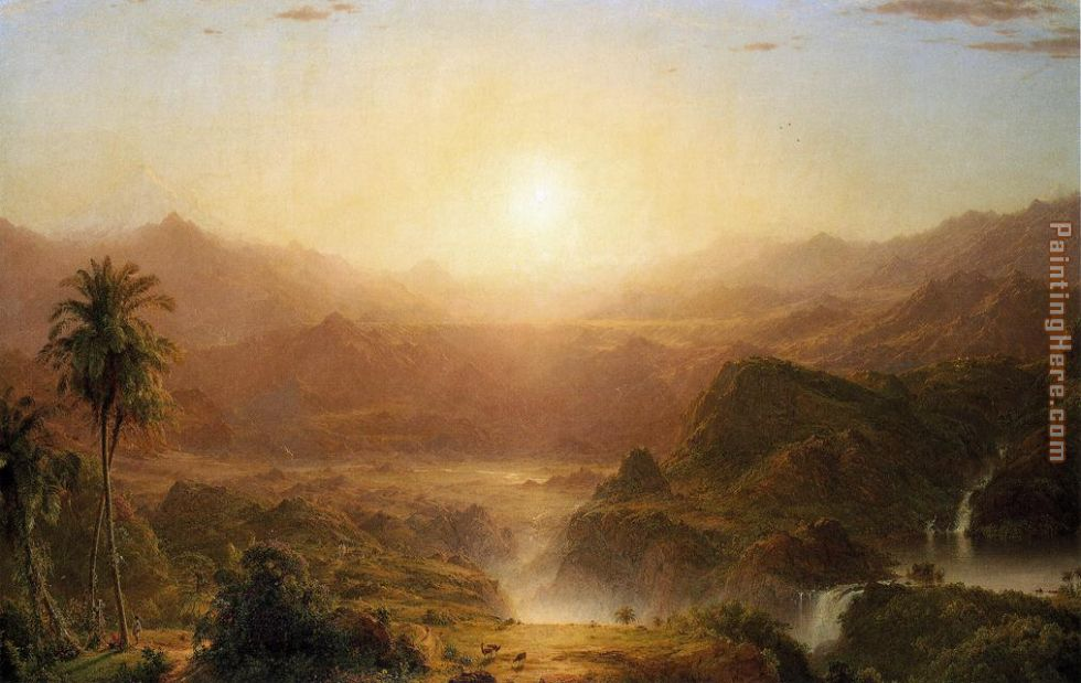 The Andes of Ecuador painting - Frederic Edwin Church The Andes of Ecuador art painting