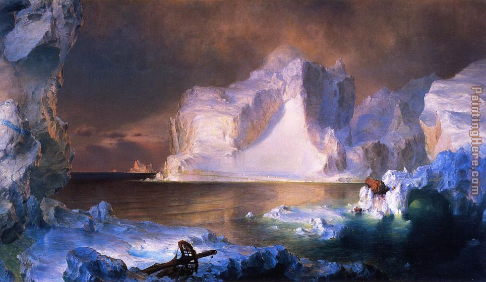 Frederic Edwin Church The Icebergs Art Painting