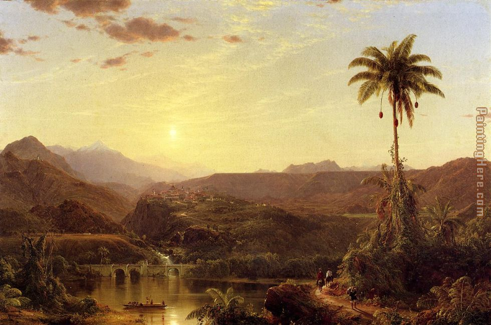 Frederic Edwin Church The Cordilleras Sunrise Art Painting