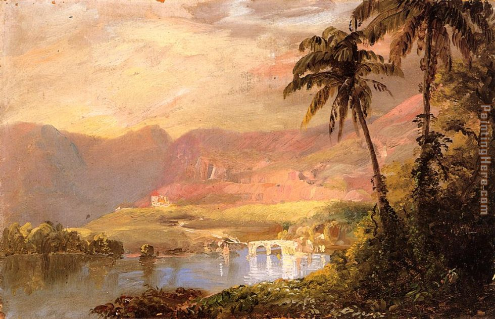 Tropical Landscape painting - Frederic Edwin Church Tropical Landscape art painting