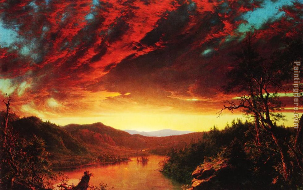 Twilight in the Wilderness painting - Frederic Edwin Church Twilight in the Wilderness art painting