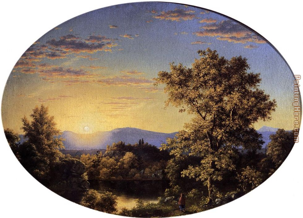 Frederic Edwin Church Twilight among the Mountains Art Painting