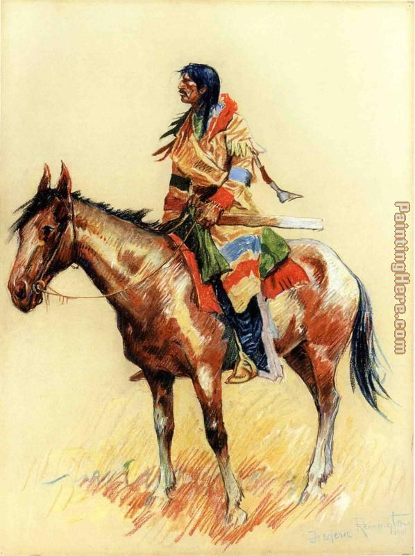 Frederic Remington A Breed Art Painting