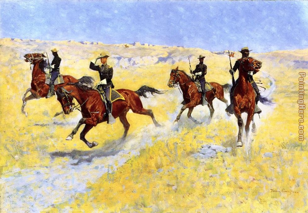 The Advance painting - Frederic Remington The Advance art painting