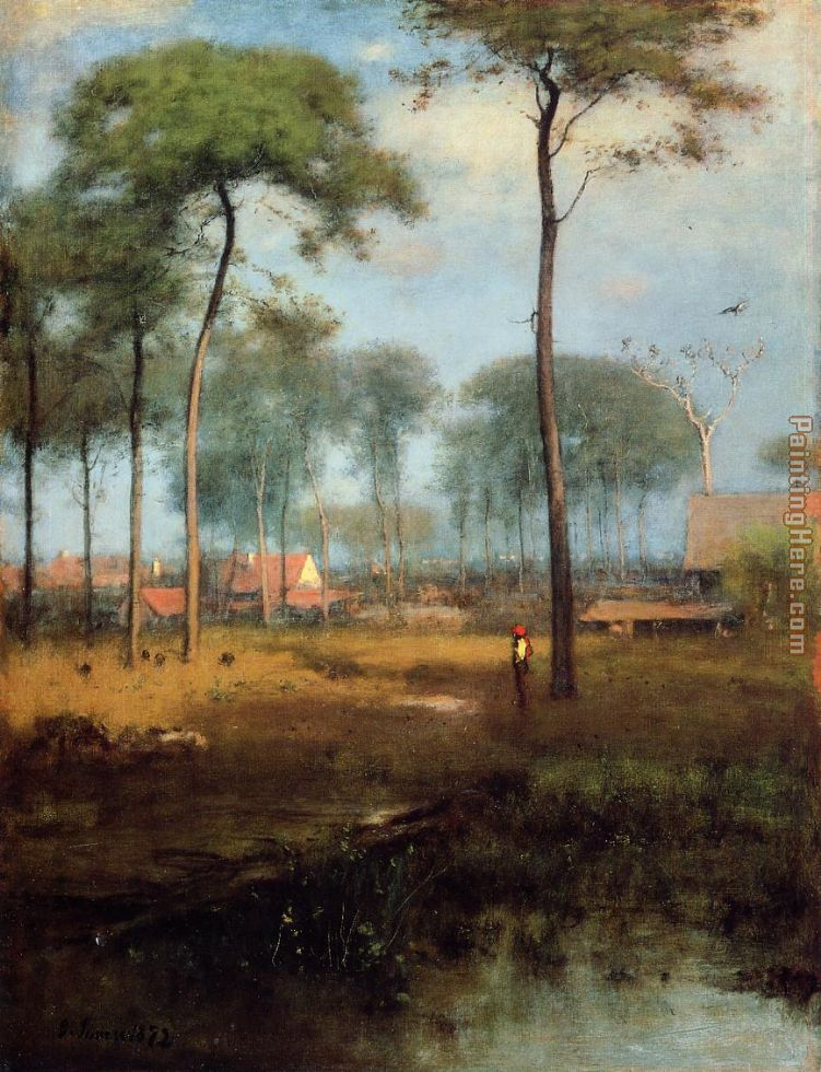 Early Morning Tarpon Springs painting - George Inness Early Morning Tarpon Springs art painting