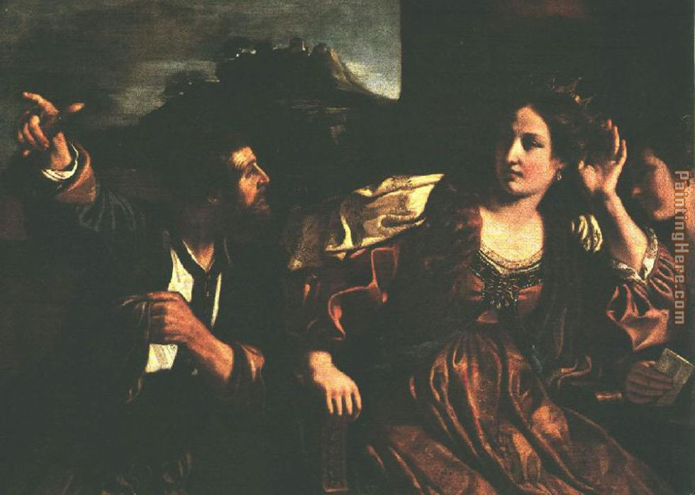 Guercino Semiramis Receiving Word of the Revolt of Babylon Art Painting