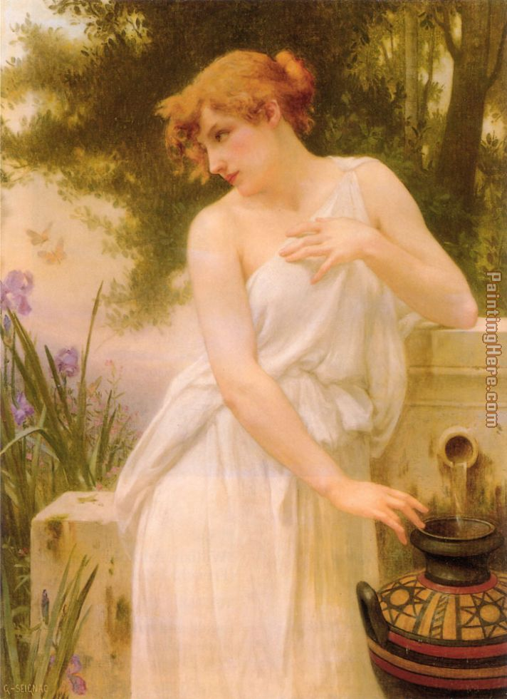 Beauty At The Well painting - Guillaume Seignac Beauty At The Well art painting