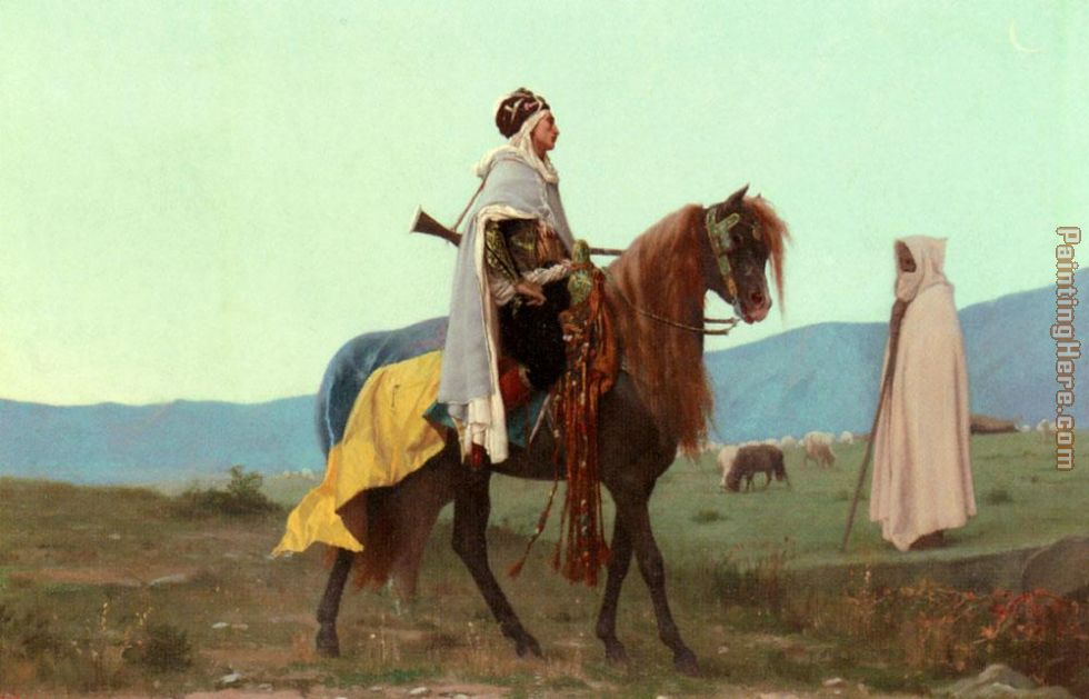 An Arab Horseman painting - Gustave Clarence Rodolphe Boulanger An Arab Horseman art painting