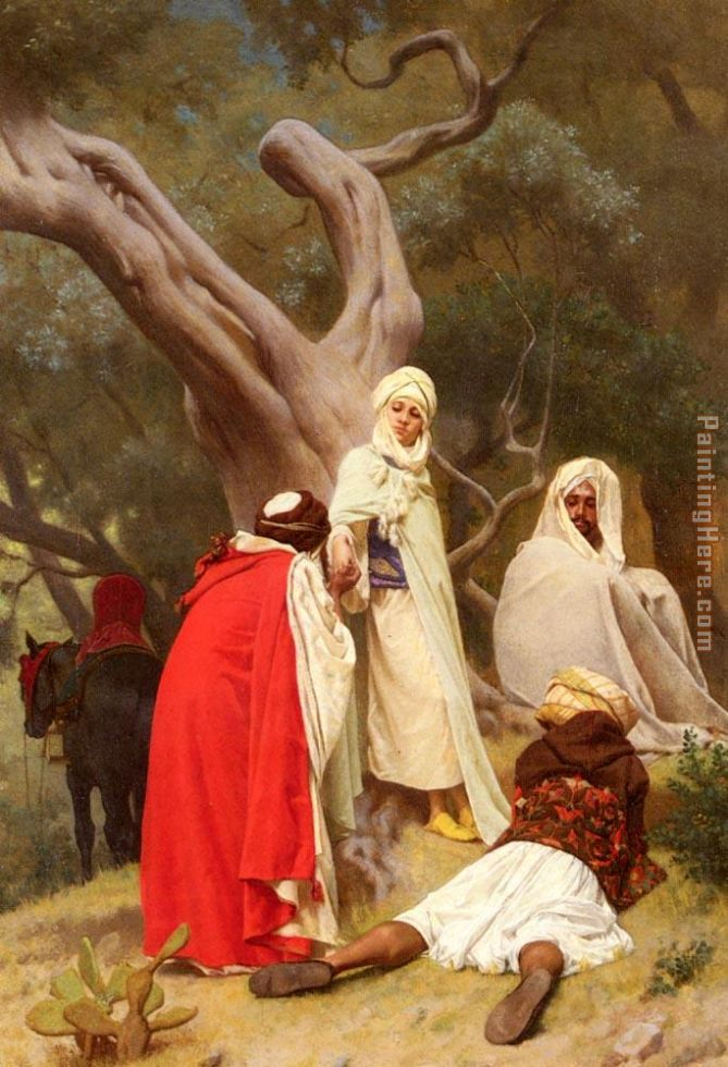 Reception Of An Emir painting - Gustave Clarence Rodolphe Boulanger Reception Of An Emir art painting