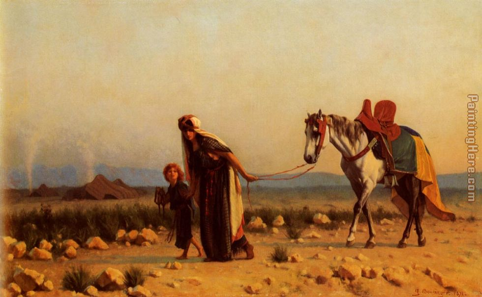 Gustave Clarence Rodolphe Boulanger The Return Art Painting