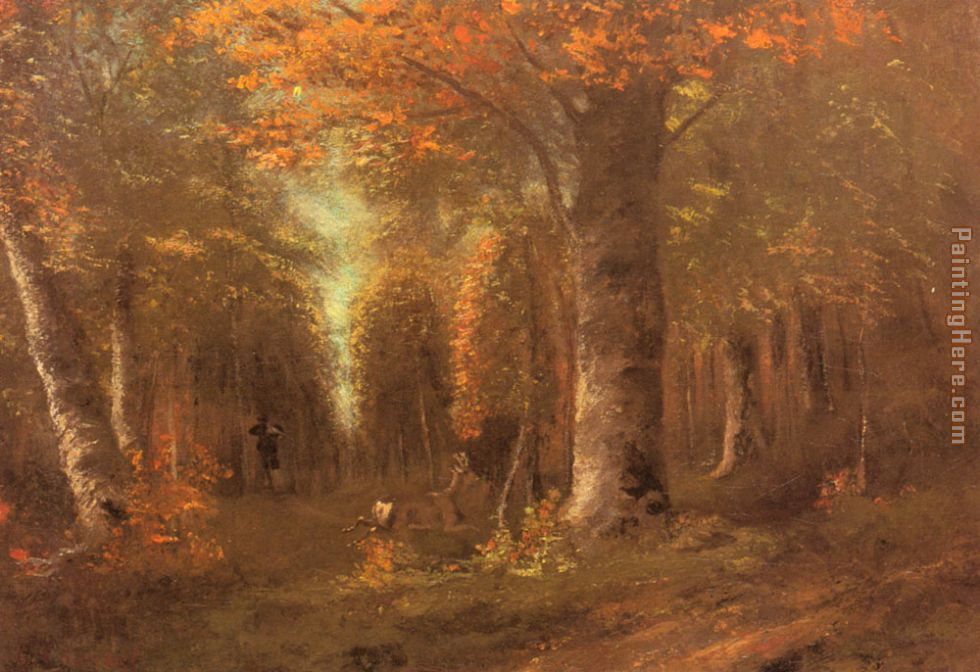Gustave Courbet Forest in Autumn Art Painting