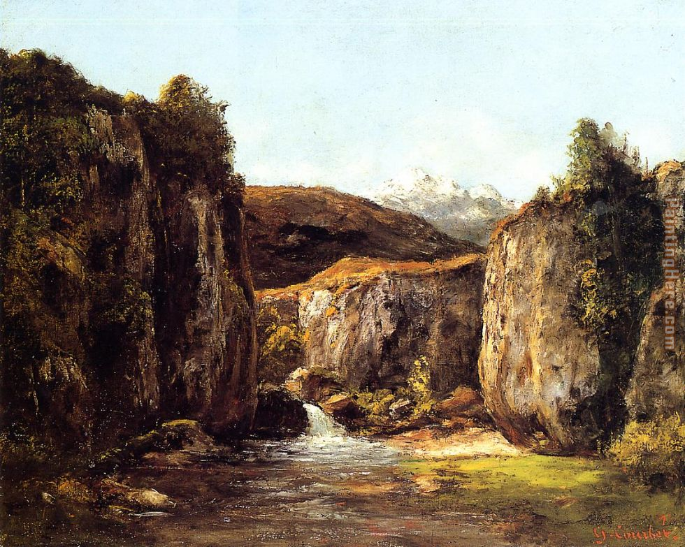 Gustave Courbet Landscape The Source among the Rocks of the Doubs Art Painting