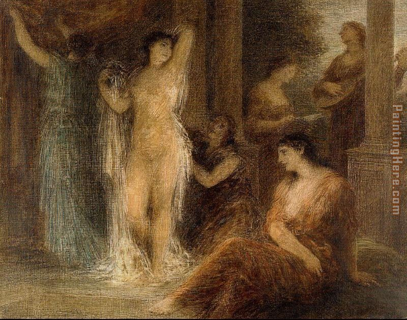 Henri Fantin-Latour The Bath Art Painting