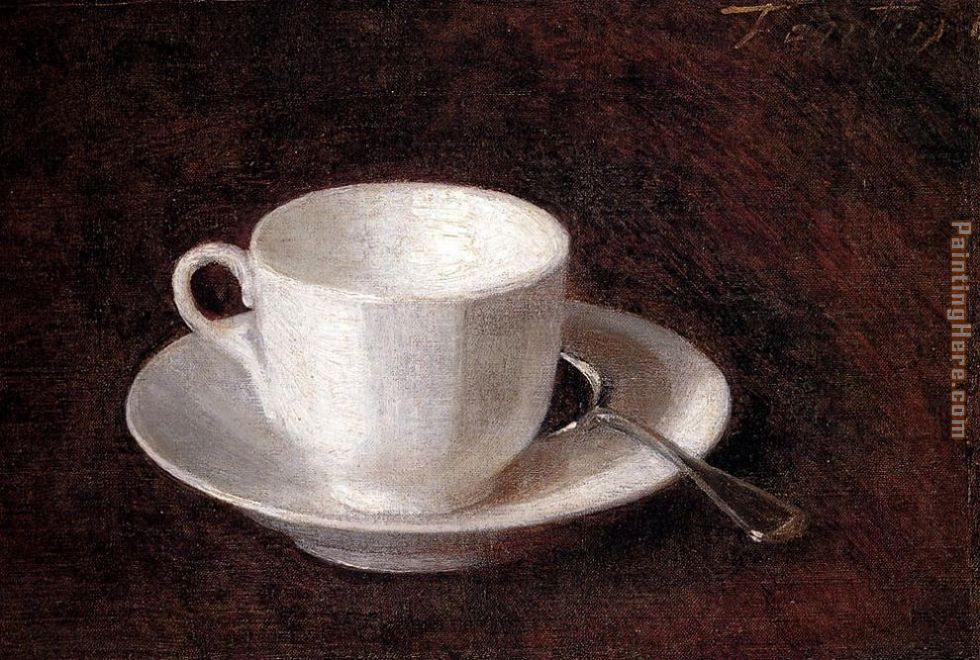 Henri Fantin-Latour White Cup And Saucer Art Painting