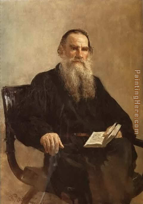 Portrait of Leo Tolstoy painting - Il'ya Repin Portrait of Leo Tolstoy art painting