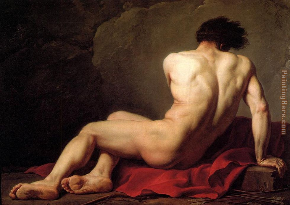 Jacques-Louis David Male Nude known as Patroclus Art Painting