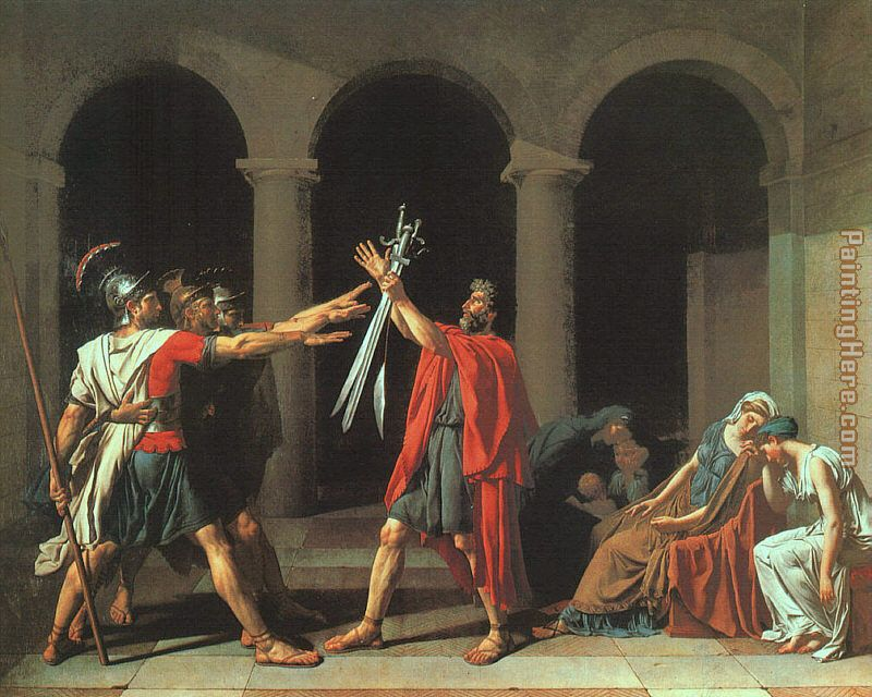 The Oath of the Horatii painting - Jacques-Louis David The Oath of the Horatii art painting