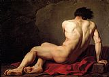 Male Nude known as Patroclus by Jacques-Louis David