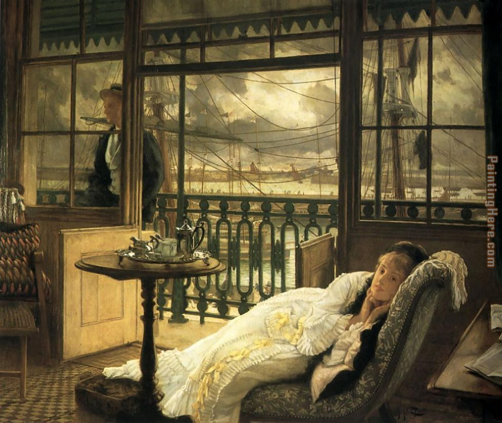 James Jacques Joseph Tissot A Passing Storm Art Painting