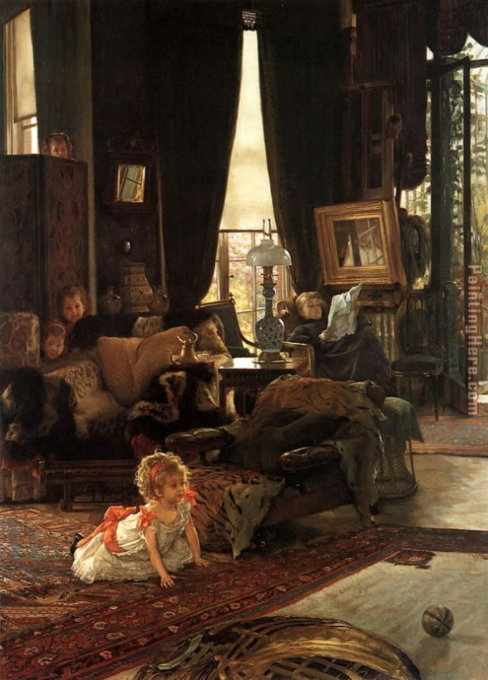 Hide and Seek painting - James Jacques Joseph Tissot Hide and Seek art painting