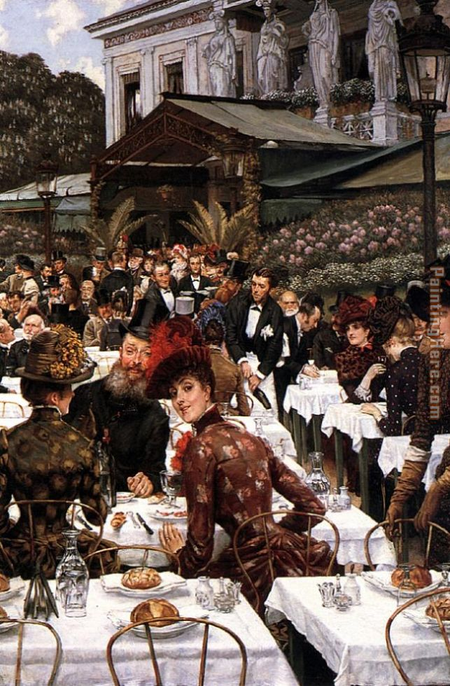The Artist's Ladies painting - James Jacques Joseph Tissot The Artist's Ladies art painting