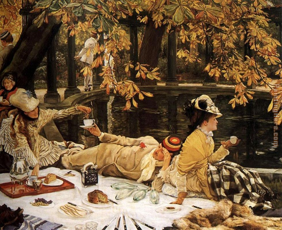 Tissot The Picnic painting - James Jacques Joseph Tissot Tissot The Picnic art painting