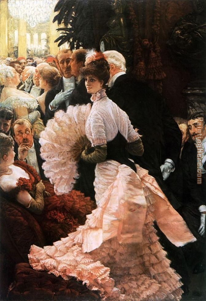 The Political Lady painting - James Jacques Joseph Tissot The Political Lady art painting