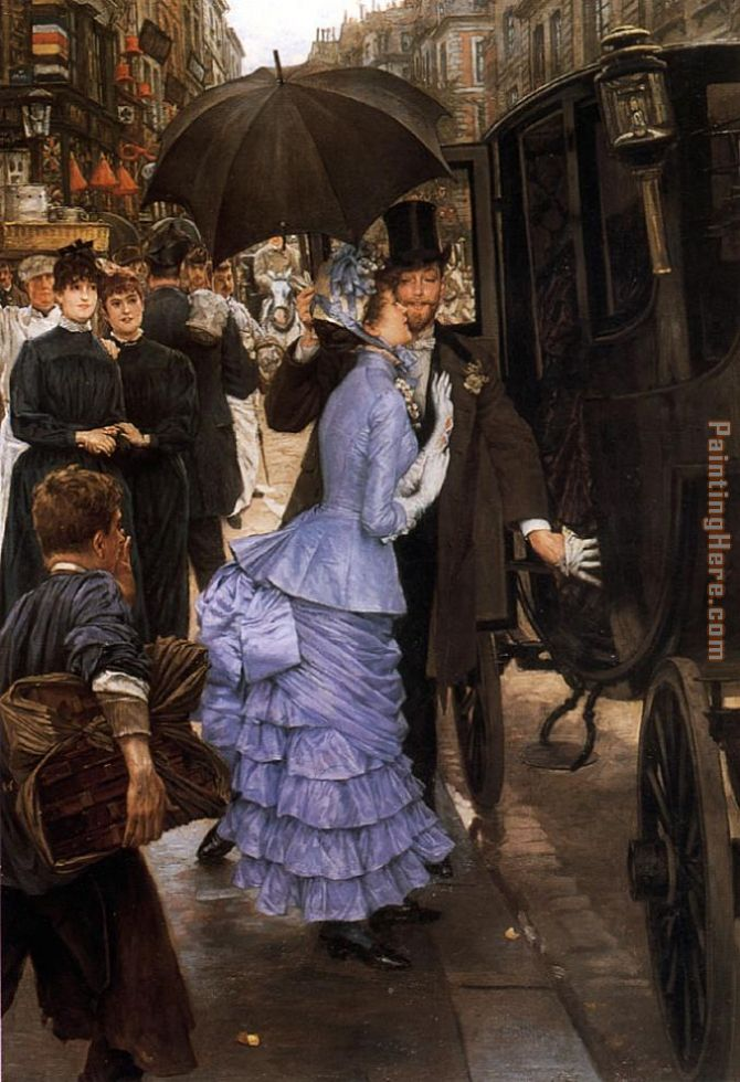 Tissot The Traveller painting - James Jacques Joseph Tissot Tissot The Traveller art painting