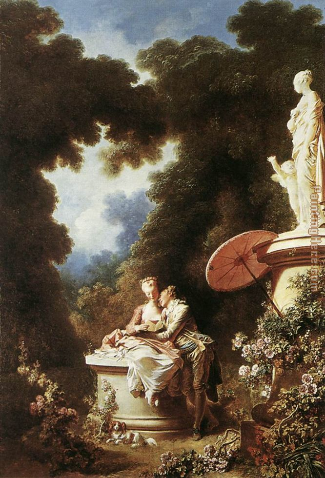 The Confession of Love painting - Jean-Honore Fragonard The Confession of Love art painting