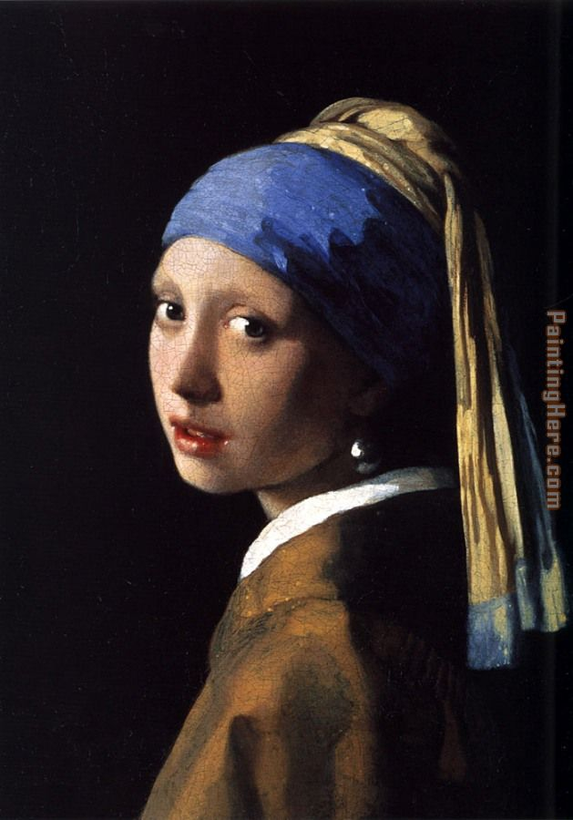 Girl with a Pearl Earring painting - Johannes Vermeer Girl with a Pearl Earring art painting