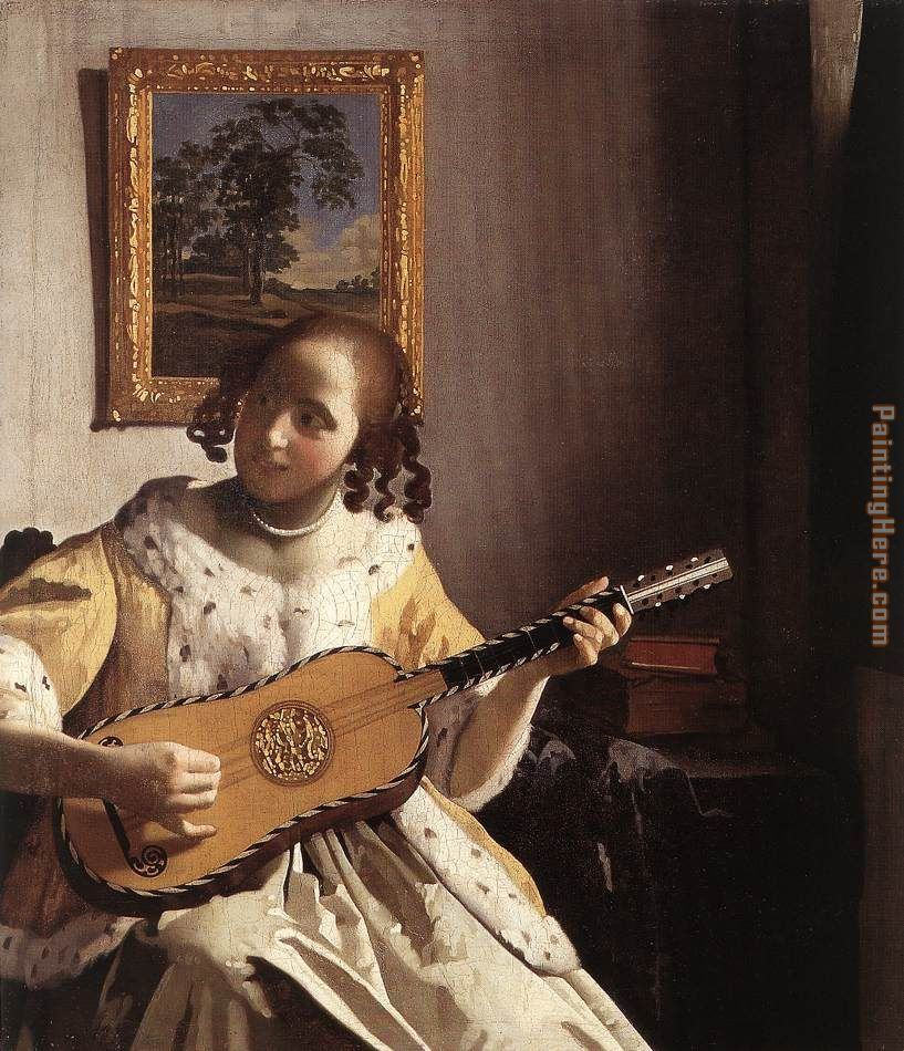 Johannes Vermeer The Guitar Player Art Painting