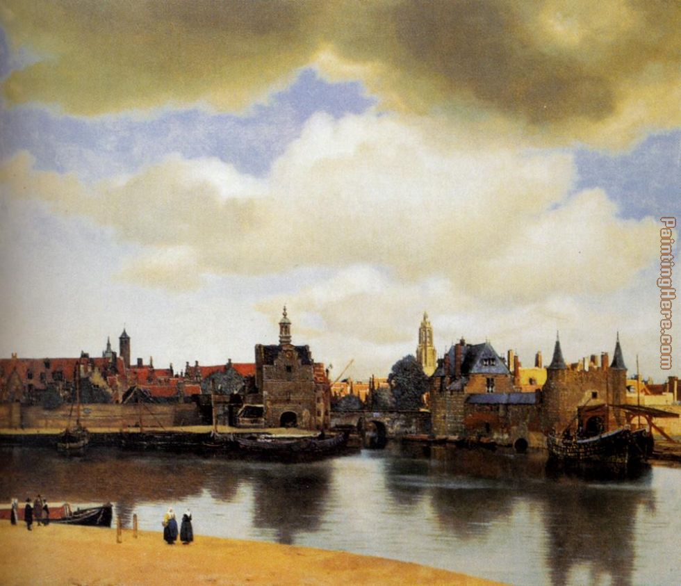 View Of Delft painting - Johannes Vermeer View Of Delft art painting