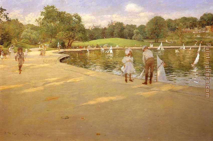 A Morning Walk painting - John Singer Sargent A Morning Walk art painting