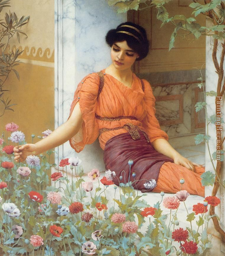 Summer Flowers painting - John William Godward Summer Flowers art painting