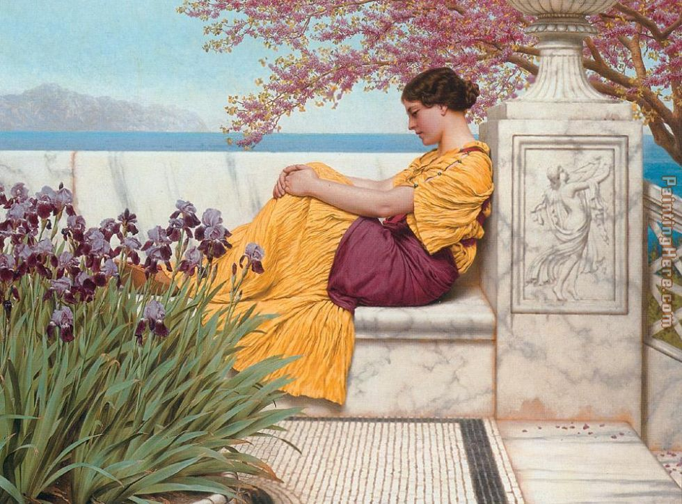 Under the Blossom that Hangs on the Bough painting - John William Godward Under the Blossom that Hangs on the Bough art painting