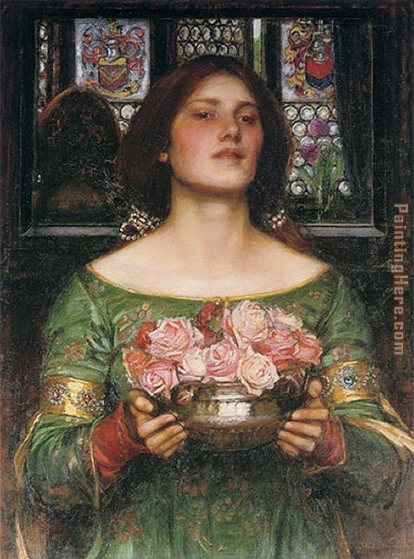 John William Waterhouse Gather Ye Rosebuds while ye may Art Painting