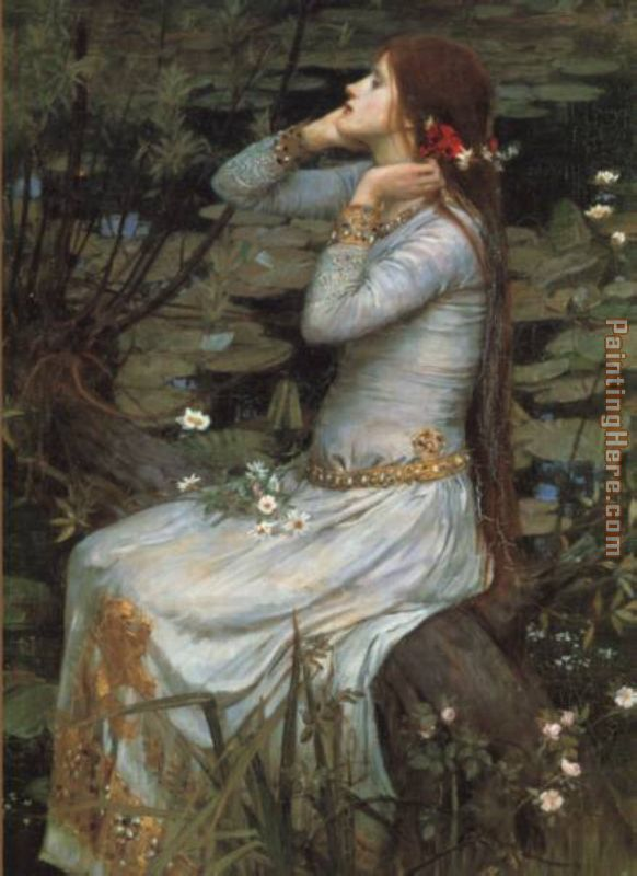 Waterhouse Ophelia painting - John William Waterhouse Waterhouse Ophelia art painting