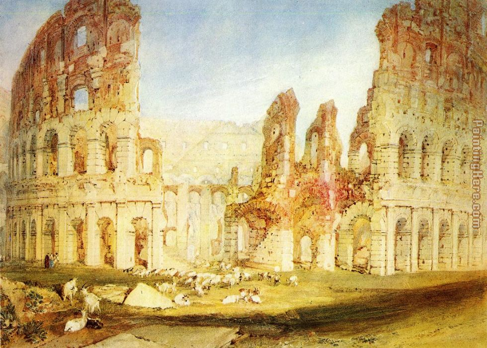 Joseph Mallord William Turner Rome The Colosseum Art Painting