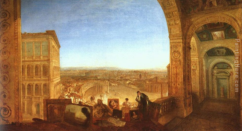 Rome from the Vatican painting - Joseph Mallord William Turner Rome from the Vatican art painting