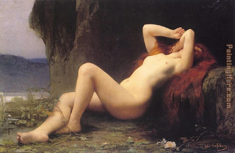 Mary Magdalene In The Cave painting - Jules Joseph Lefebvre Mary Magdalene In The Cave art painting