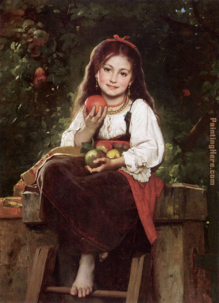 The Apple Picker painting - Leon Bazile Perrault The Apple Picker art painting