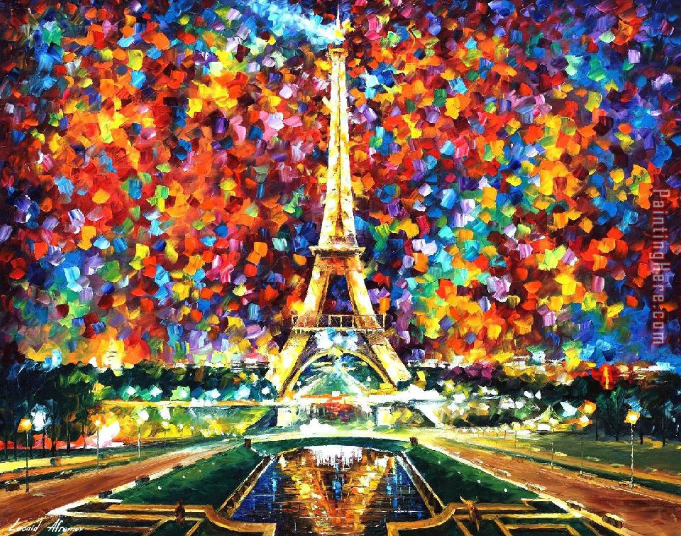 Paris of My Dreams painting - Leonid Afremov Paris of My Dreams art painting
