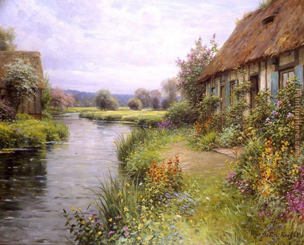 A Bend in the River painting - Louis Aston Knight A Bend in the River art painting