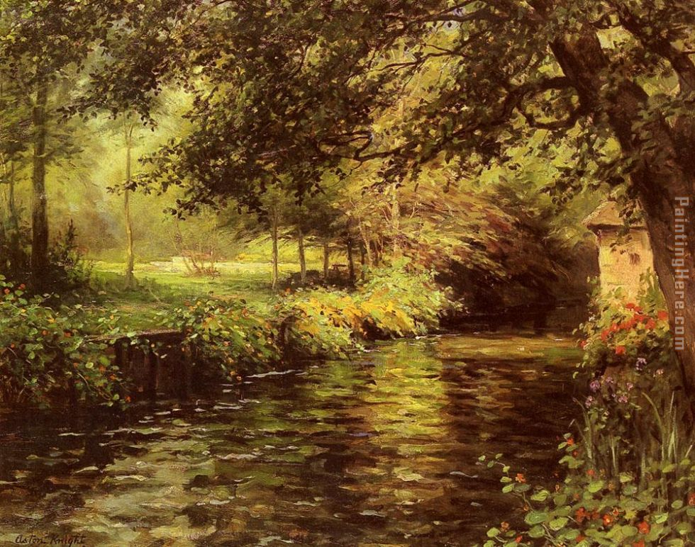 A Sunny Morning At Beaumont-Le-Roger painting - Louis Aston Knight A Sunny Morning At Beaumont-Le-Roger art painting